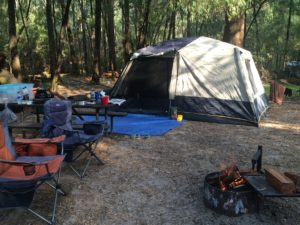 Camping is a great way to have a family holiday.