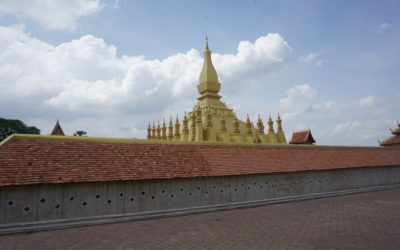 Postcards – The Golden Temple in Vientiane – Pha That Luang –  Laos