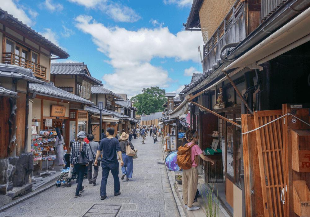 The streets of Kyoto City